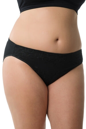 Plus Black Fancy Brief