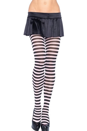 Diva Nylon Striped Tights
