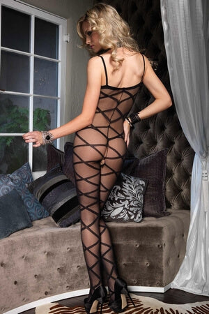 Spaghetti Strap Criss Cross Bodystocking