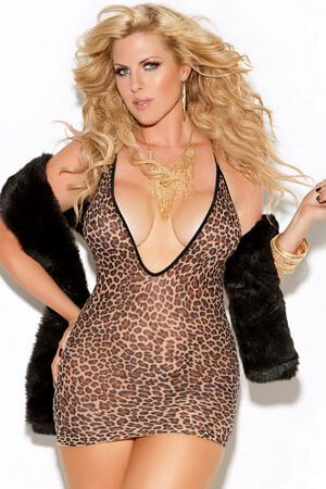 Queen Leopard Mini Dress