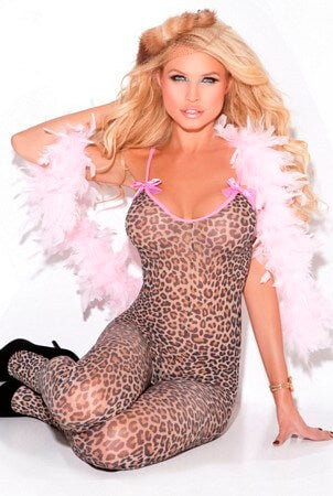 Satin Bow Bodystocking