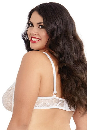Queen White Lace Shelf Bra