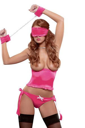 Pink Eyeshade Cuff Set