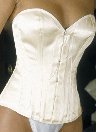 Ivory Satin Overbust Corset