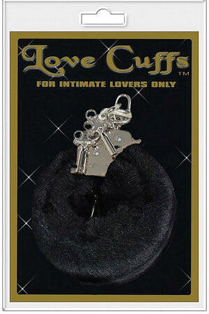 Black Furry Love Cuffs