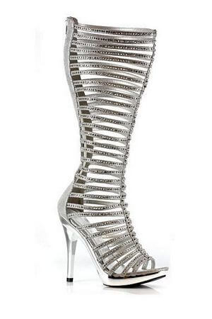 Silver Light  5 inch Heel