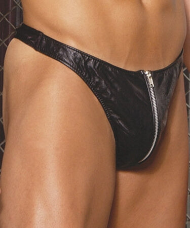 Delightful Men's Leather Thong