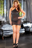 Queen Black Sheer Mini Dress - LingerieDiva