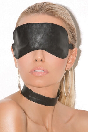 Hot Leather Blindfold