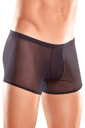 Men's Black Mesh Pouch Shorts