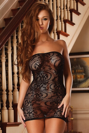 Seamless Swirl Tube Dress