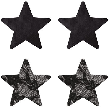 Satin & Lace Stars Pasties
