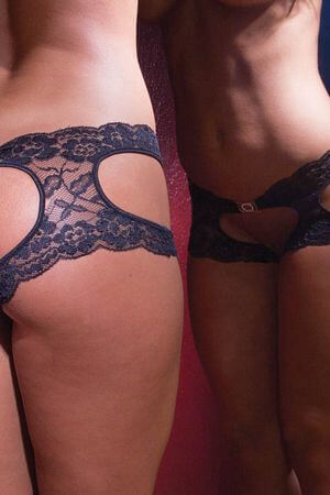 Black Lace Sweet Seat Short