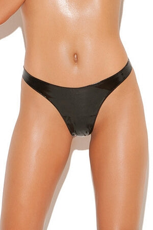 Queen Basic Vinyl Thong