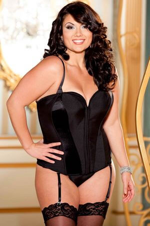 Hollywood Black Tie Diva Corset