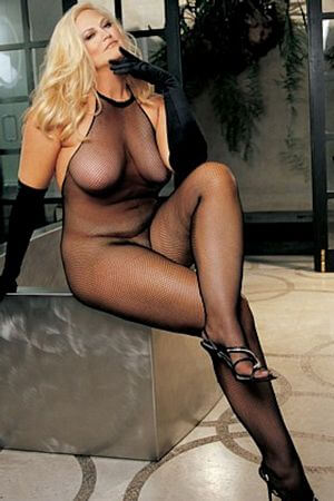 Stretch Fishnet Queen Halter Body Stocking