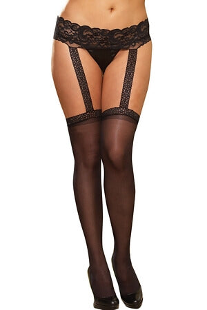 Black Garter Belt Pantyhose