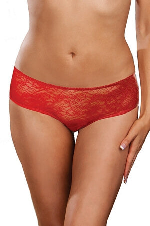 Red Ruffles & Lace Boyshort Panty
