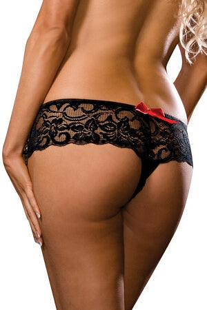 Bow Lace Boyshort/Thong