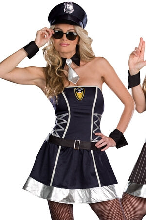Sexy Reversible Cop & Gangster Costume