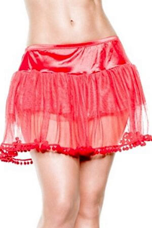 Red Pompom Petticoat