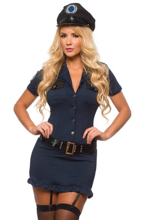 5 Pc Sexy Police Officer Costume