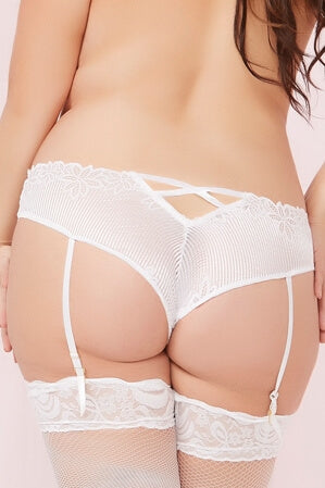 Queen Frisky White Crotchless Panty