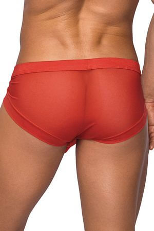 Red Micro Mini Hose Short