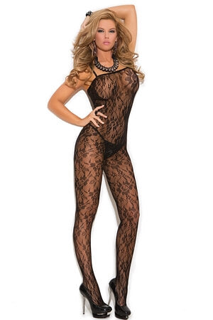 Seductive Rose Lace Body Stocking