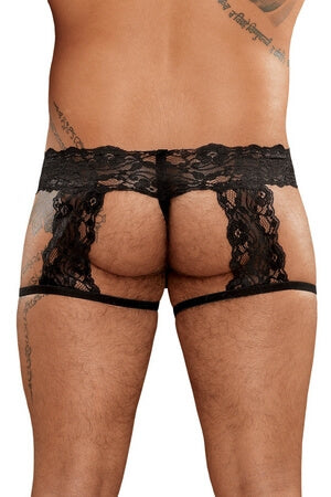 Lace G-String Garter Short