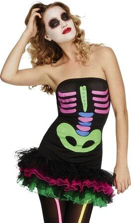 Fever Neon Skeleton Costume