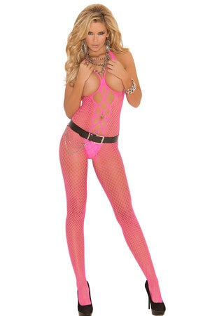 Open Bust Bodystocking