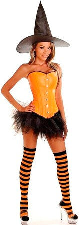 Orange Pin-Up Witch Costume