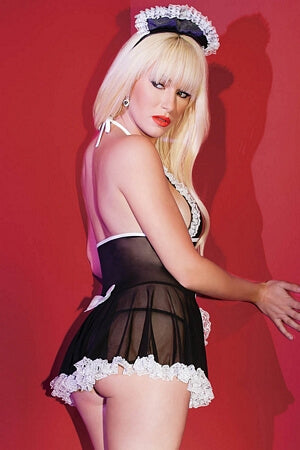 French Maid Mesh Babydoll