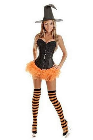 Orange Pin-Up Witch Costume ...  sc 1 st  Lingerie Diva & Sexy Witch Costumes - Adult Halloween Witches u2013 LingerieDiva