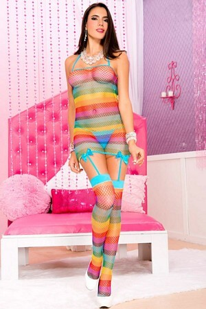 Rainbow Stripe Mini Stocking