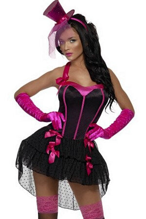 Fever Bow Burlesque Corset Dress