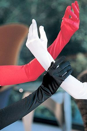 Long Satin Spandex Gloves