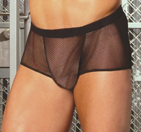 Black Fishnet Boxer