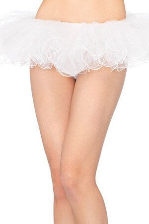 White Swirled Finish Tutu