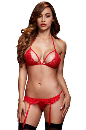 Red Love Potion Bra Set