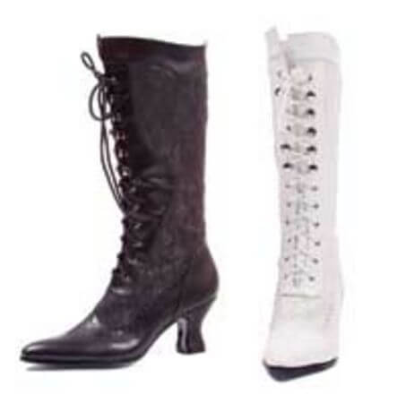 Rebecca White Boot with Lace