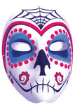 Red & Blue Sugar Skull Mask - LingerieDiva