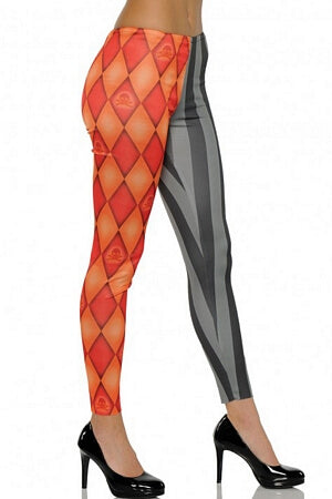 Orange & Black Skull Leggings