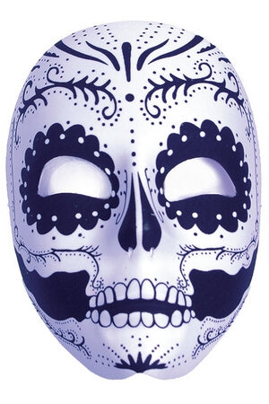 Lace Detail Sugar Skull Mask