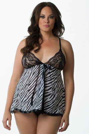 Plus Sexy Safari Babydoll