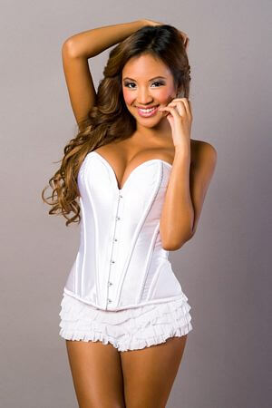White Satin Sweetheart Corset