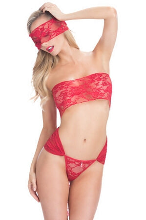 Red Lace Wrap Teddy