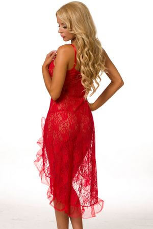 Burning Desire Lace Gown