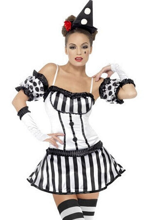Kinky Clown Mime Costume